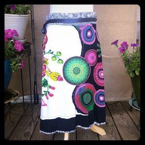 Embellished Desigual Skirt Size Meditm